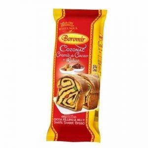 Cozonac with Cocoa Cream and Almond