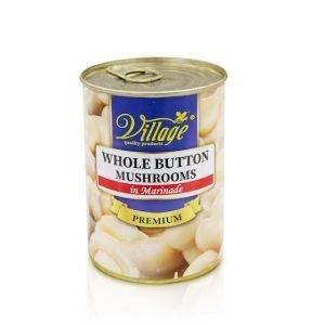 Village Whole Button Mushrooms 400g