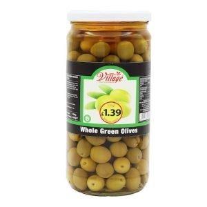 Village Whole Green Olives