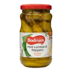 Bodrum Pickled Mild Lombardi Peppers 300g