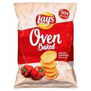 Lay's Oven Baked Paprika Flavoured Crisps 125g