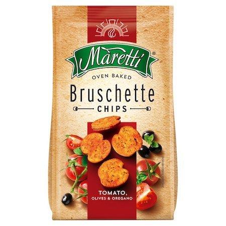 Maretti Tomato Olives and Oregano Bruschette Chips 70g
