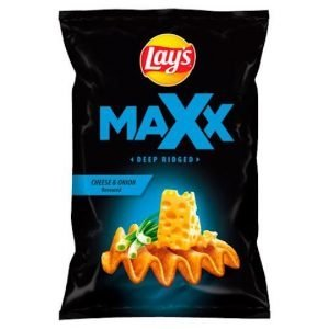 Lay's Maxx Cheese & Onion Flavoured Crisps 140g