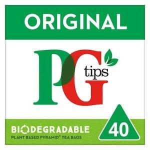 PG tips Original 40 Tea Bags 116g