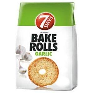 7 Days Bake Rolls Garlic 80g