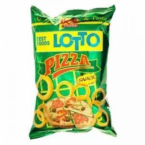 Lotto Pizza Flavoured Ring Corn Snacks 75g