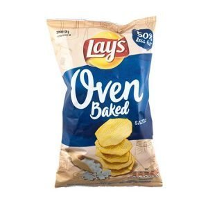 Lay's Oven Baked Solone Salted Crisps 125g