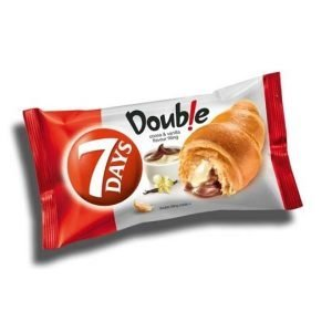7 Days Double Croissant with Cocoa & Vanilla Filling 60G