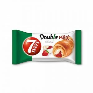 7 Days Double Max Croissant With Vanilla & Strawberry Filling 80G