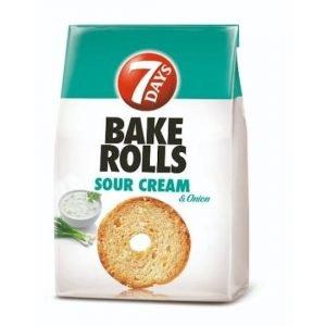 7 Days Bake Rolls Sour Cream & Onion 80g