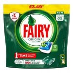 Fairy Original All In One Dishwasher Tablets 17 Pack