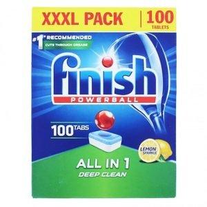 Finish All-in-1 Lemon Dishwasher 100 Tablets