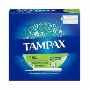 Tampax Cardboard Super Applicator Tampons 20pcs