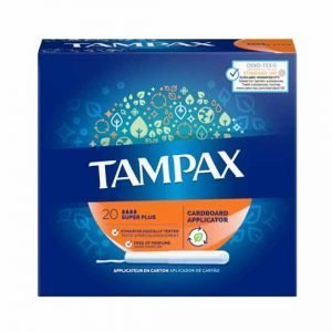 Tampax Cardboard Super Plus Applicator Tampons