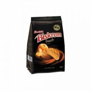 Ulker Biskrem Peach Biscuits Bag 160g