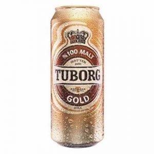 Tuborg Gold 100% Malt Beer Can 50cl