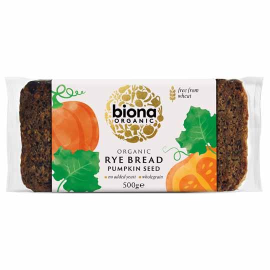 Biona Organic Rye Bread Pumpkin Seed 500g