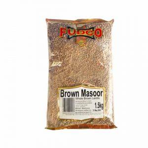 Fudco Brown Masoor Whole Brown Lentils 1.5kg