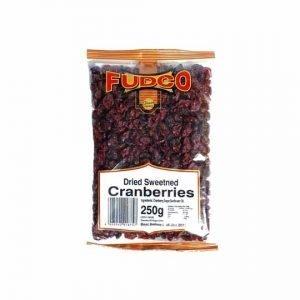 Fudco Dried Sweetened Cranberries 250g