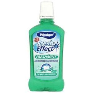Wisdom Fresh Effect Freshmint Mouthwash 500ml