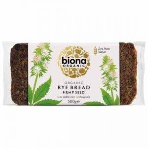 Biona Organic Rye Bread Hemp Seed 500g