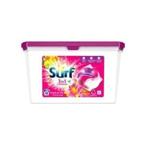 Surf 3 in 1 Tropical Lily Laundry Capsules 18 Washes