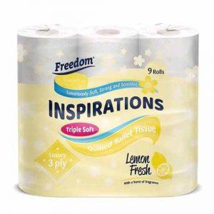 Freedom Inspirations Lemon Fresh Toilet Paper 9 Rolls