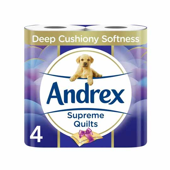 Andrex Supreme Quilts Toilet Tissue 4 Rolls