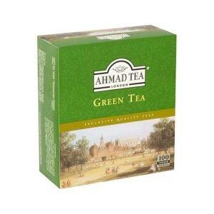 Ahmad Tea Green Tea 100 Tagged Teabags