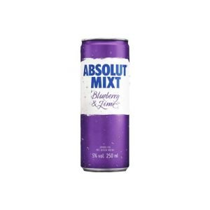 Absolut Mixt Blueberry and Lime 250ml