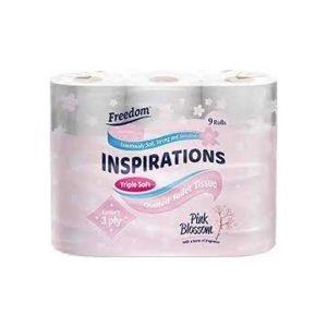 Freedom Inspirations Triple Soft Toilet Paper 9 Rolls