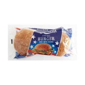Dulcesol Maxi Burger Buns with Sesame